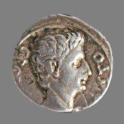 Denarius from Emperor Augustus (17-16 BC)