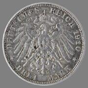 German Bavaria, 10 mark 1910
