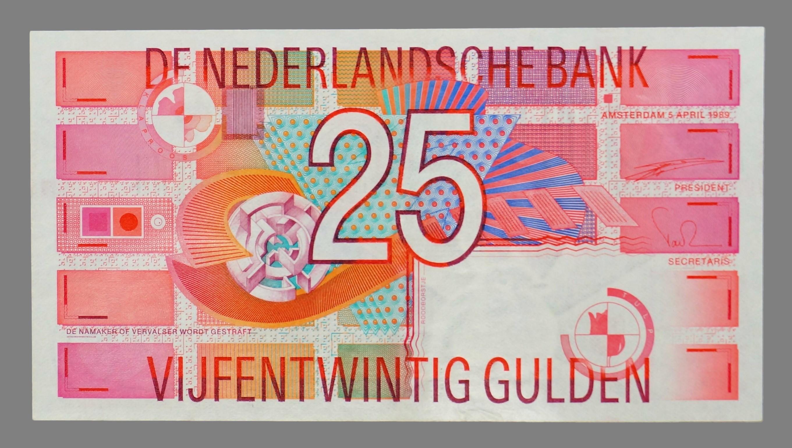 Nederland, 25 gulden 1992
