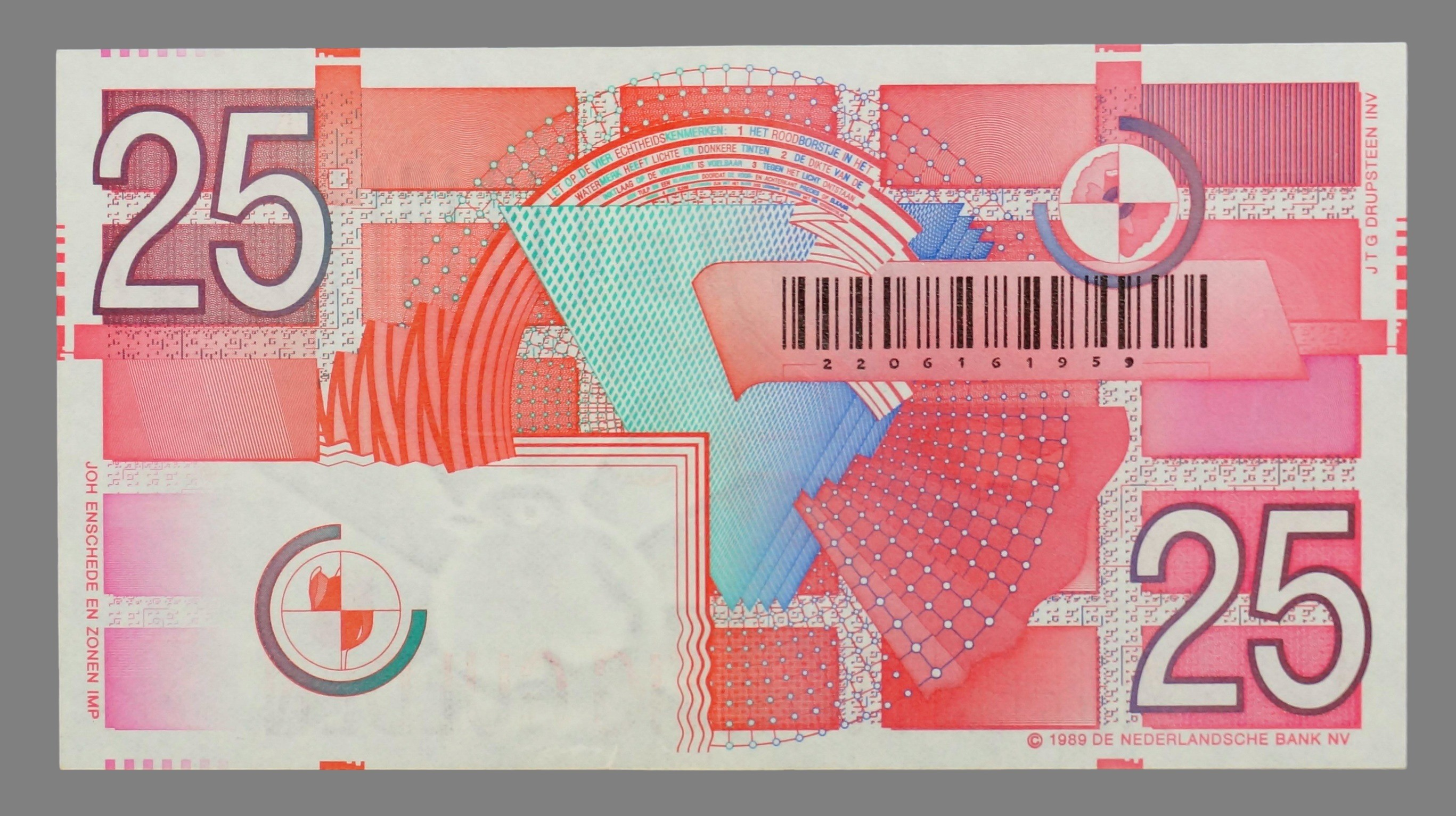 Netherlands, 25 gulden 1992