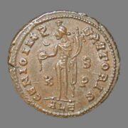 Follis from Emperor Maximanus II 311 AD