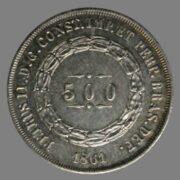Brazil, 500 reis 1861