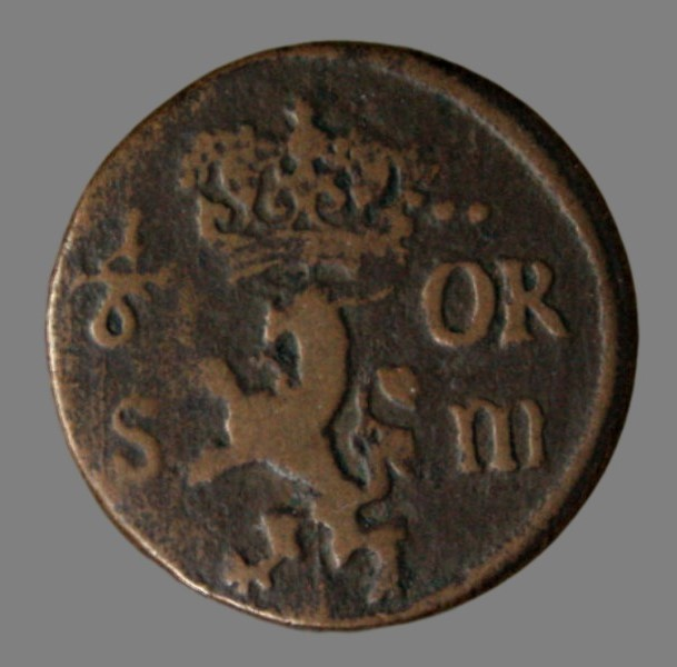Sweden, 1/6 øre 1686