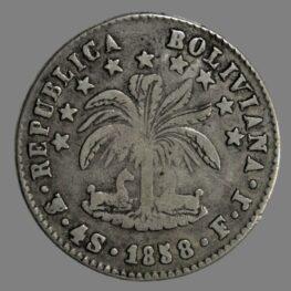 Bolivia, 4 soles 1828