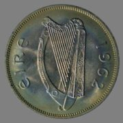 Ireland, ½ crown 1962