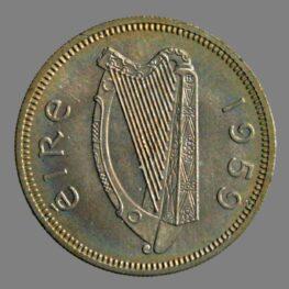 Ireland, shilling 1959