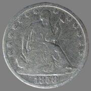USA, ½ dollar 1858